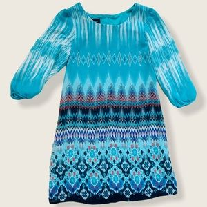 Amy's Closet Turquoise Blue Spring Easter Dress LS
